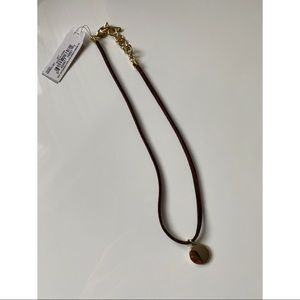 Nine West Suede with Gold Pendant Choker